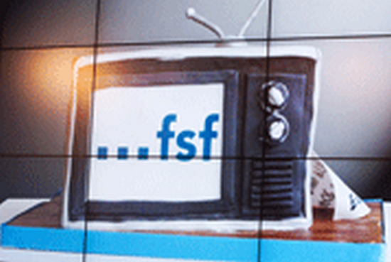 TV with FSF logo